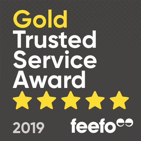 Feefo Gold Trust badge 2019