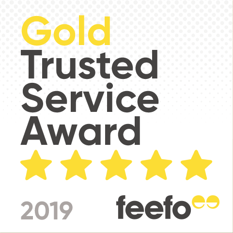 feefo gold service award for camping and glamping 2019
